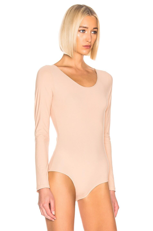 Image 3 of GOLDSIGN The Wide Scoop Bodysuit in Nude