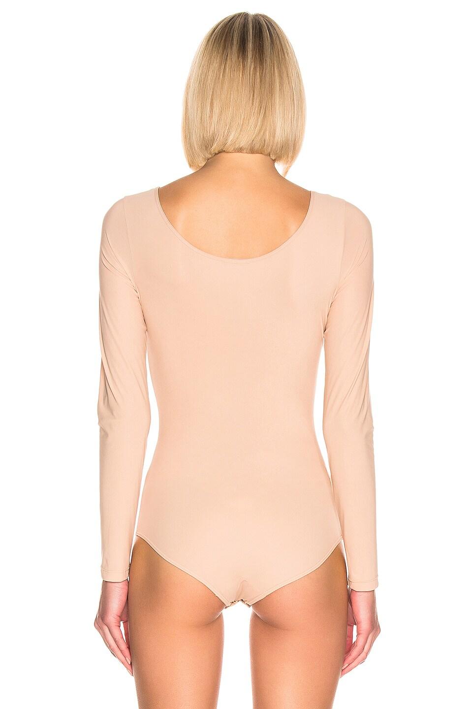 Image 4 of GOLDSIGN The Wide Scoop Bodysuit in Nude