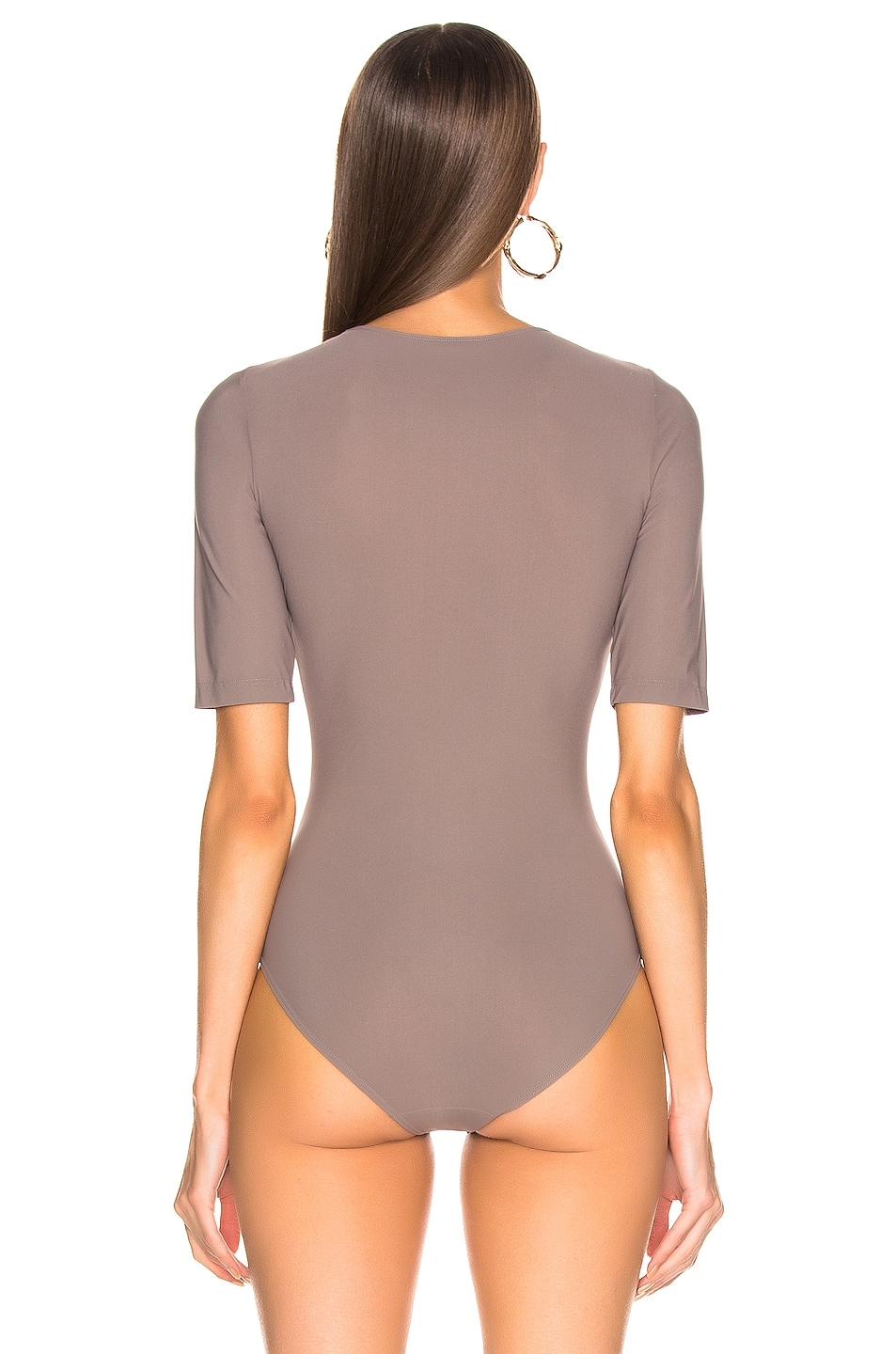Image 4 of GOLDSIGN The Half Sleeve Bodysuit in Taupe