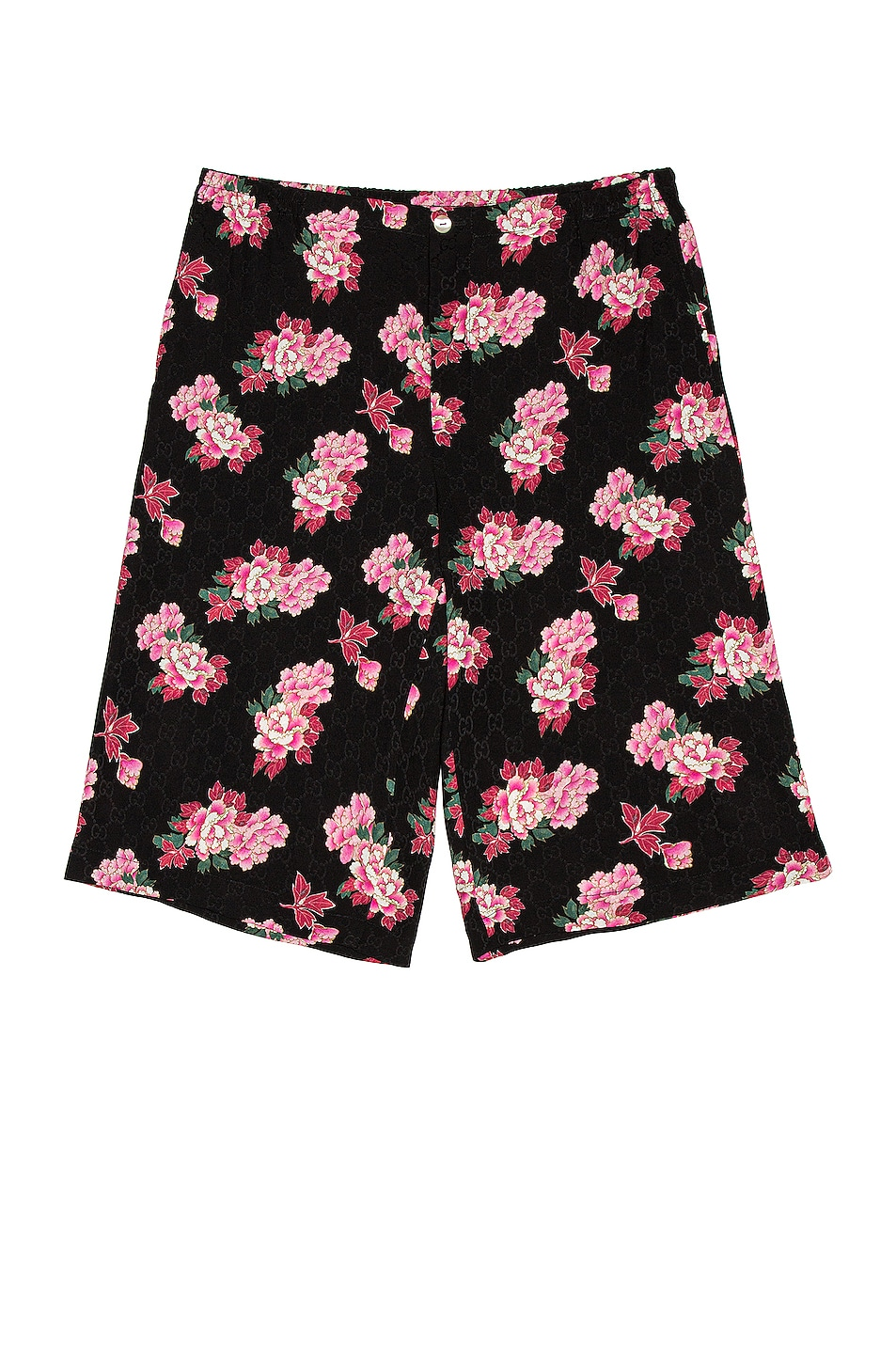 Image 1 of Gucci Shorts in Black & Pink & MC