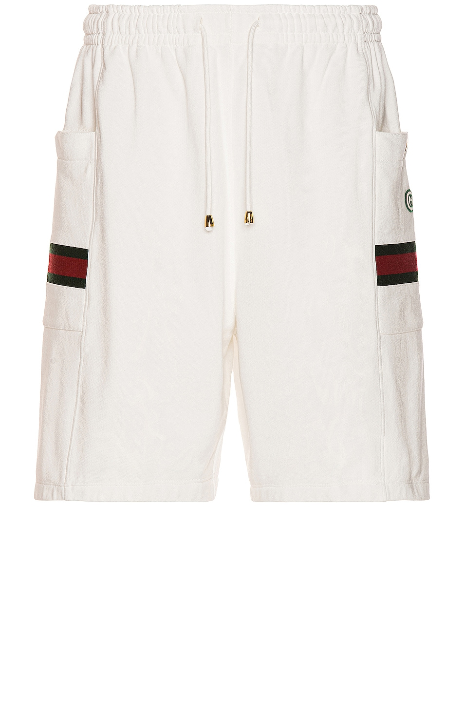 Image 1 of Gucci Shorts in Ivory & Green & Red
