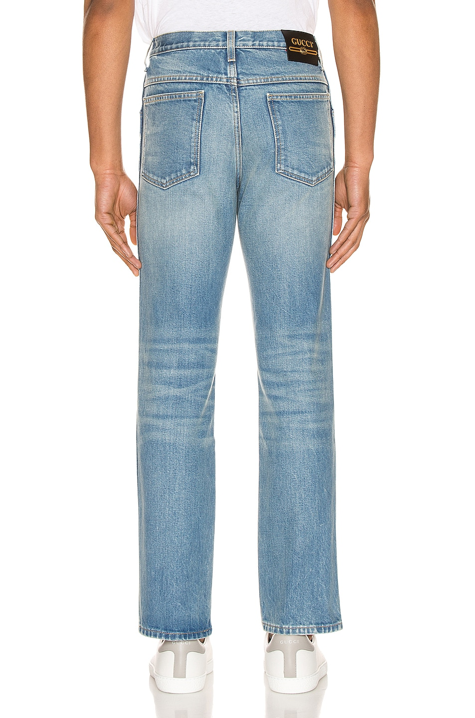 Image 3 of Gucci Marble Washed Denim Pant in Blue