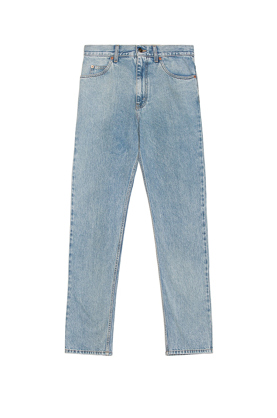 Image 1 of Gucci Washed Denim Jeans in Light Blue