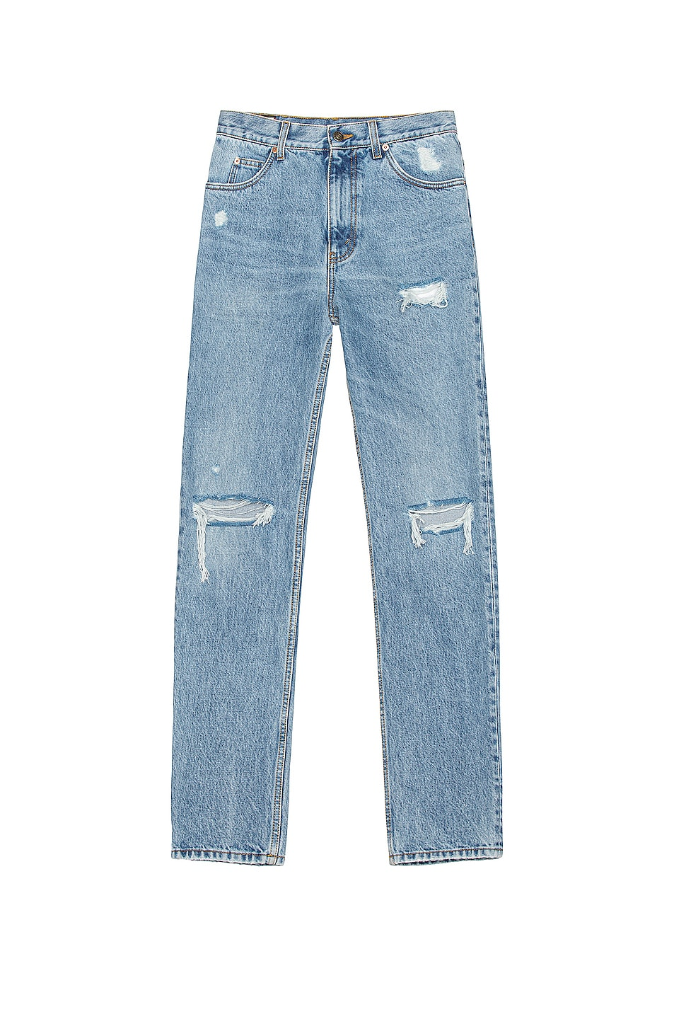 Image 1 of Gucci Distressed Jean in Light Blue