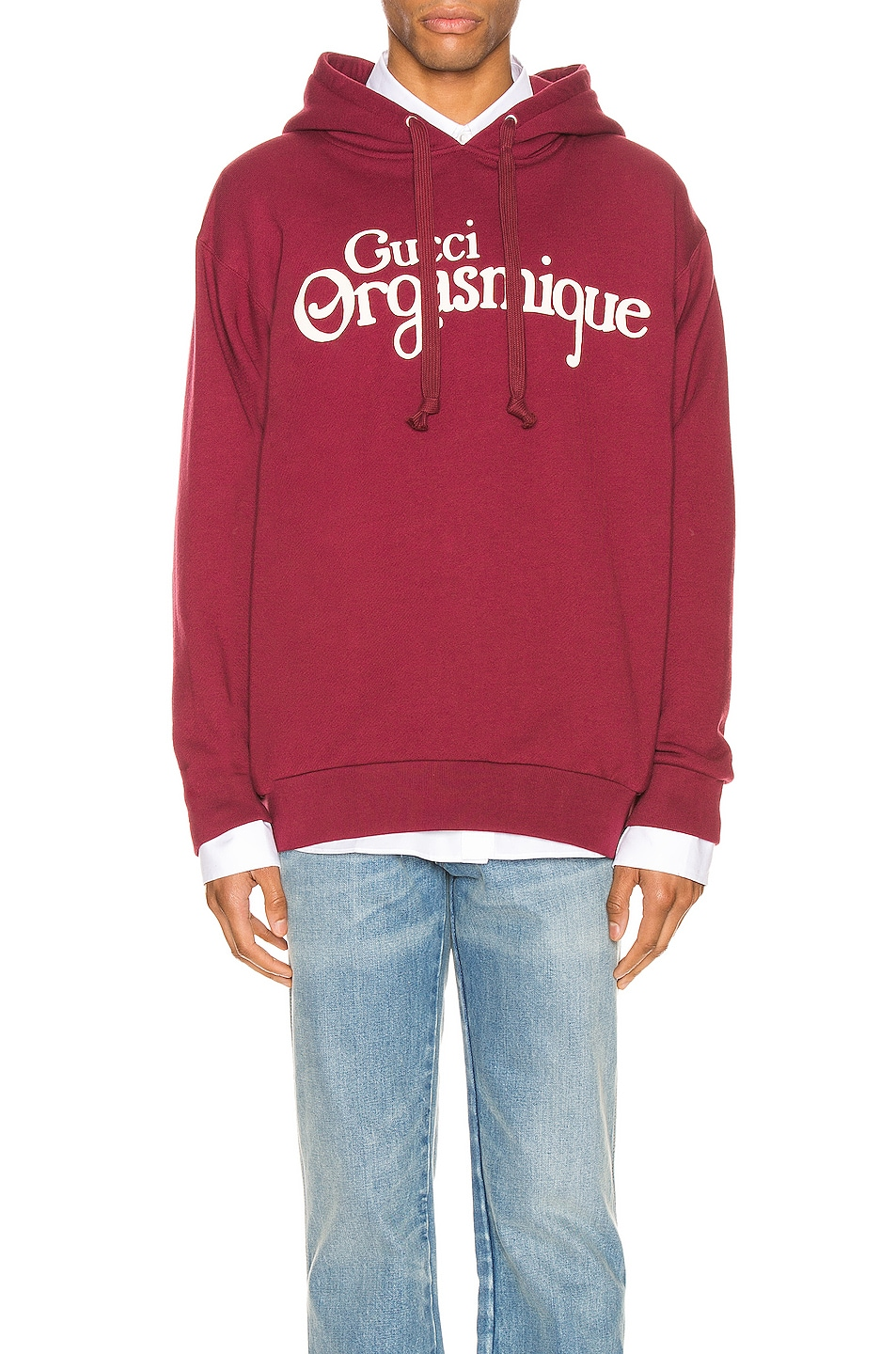 Image 1 of Gucci Pullover Hoodie in Bordeaux & Ivory