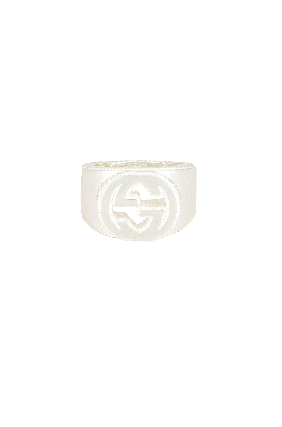 Image 1 of Gucci Interlocking G Ring in Silver