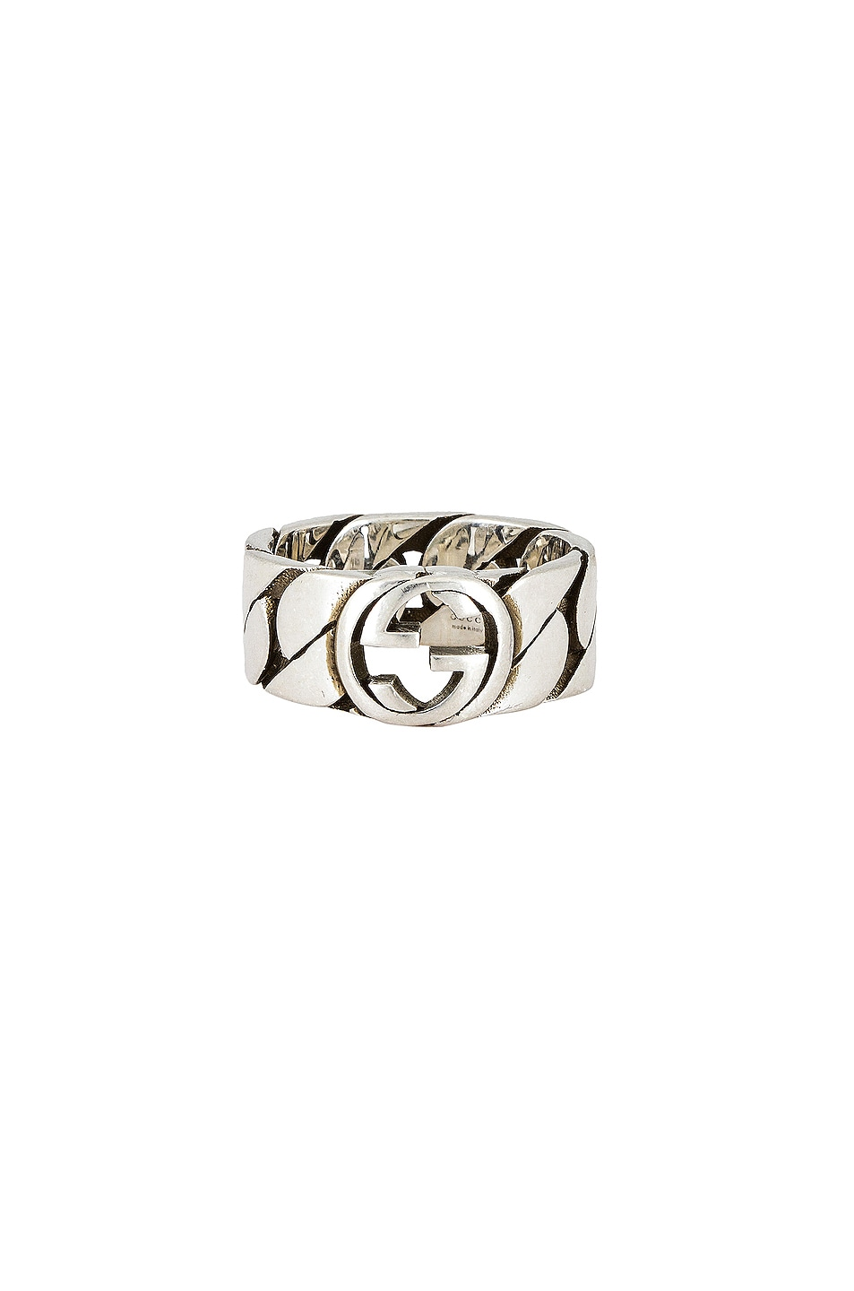 Image 1 of Gucci Interlocking G 8mm Ring in Silver