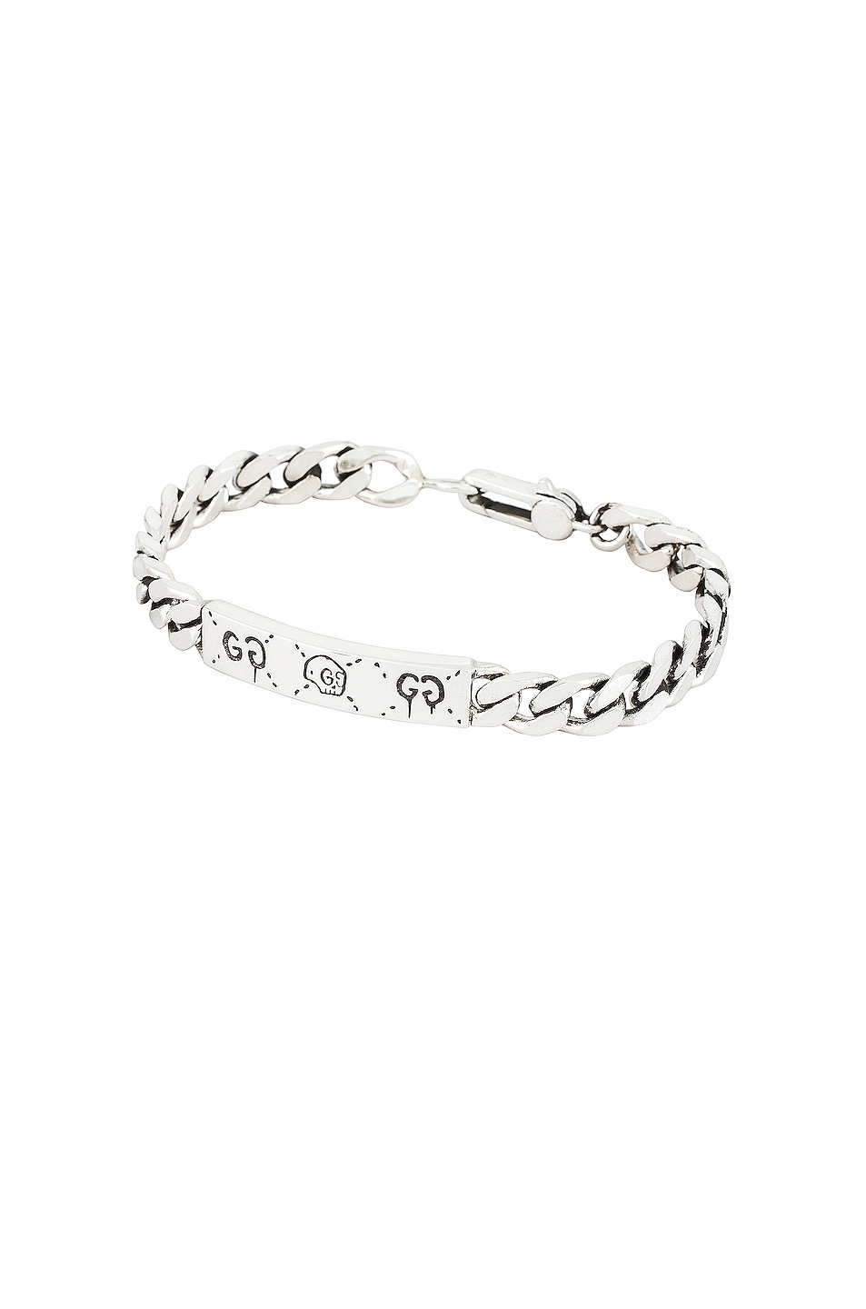 Image 1 of Gucci Ghost Bracelet in Black & Silver
