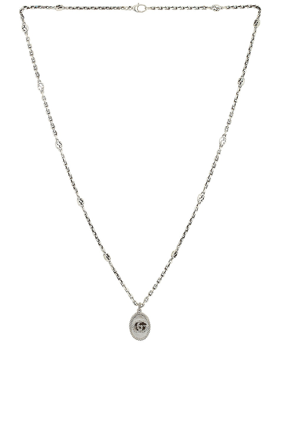 Image 1 of Gucci GG Marmont Necklace in Aged Silver