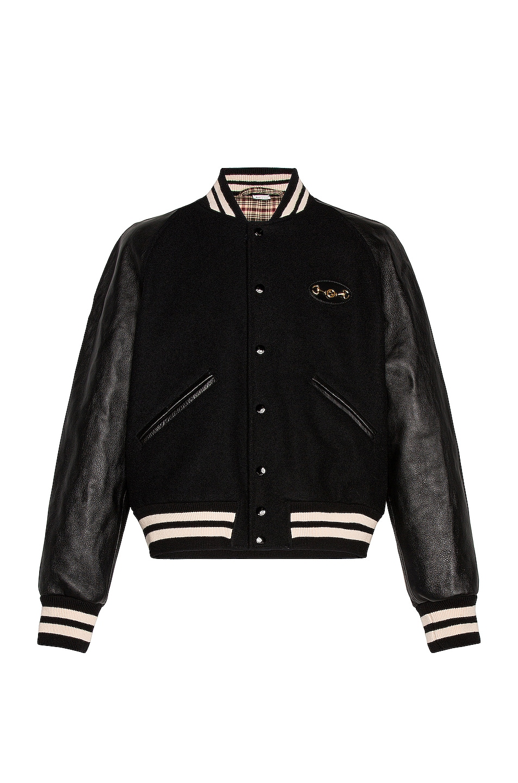 Image 1 of Gucci Varsity Jacket in Black