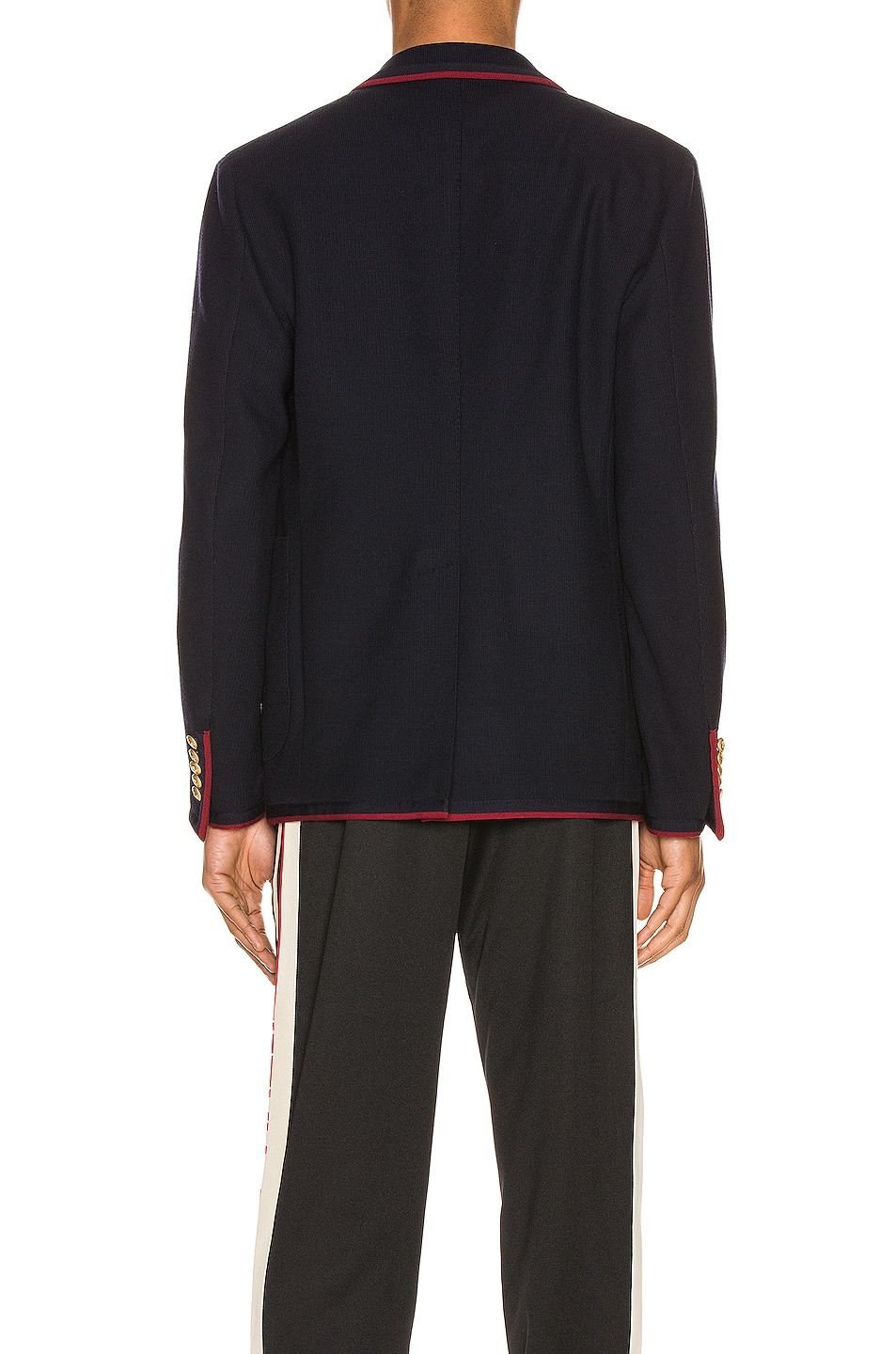 Image 4 of Gucci Palma Wool Cotton Jacket With Patch in Ink