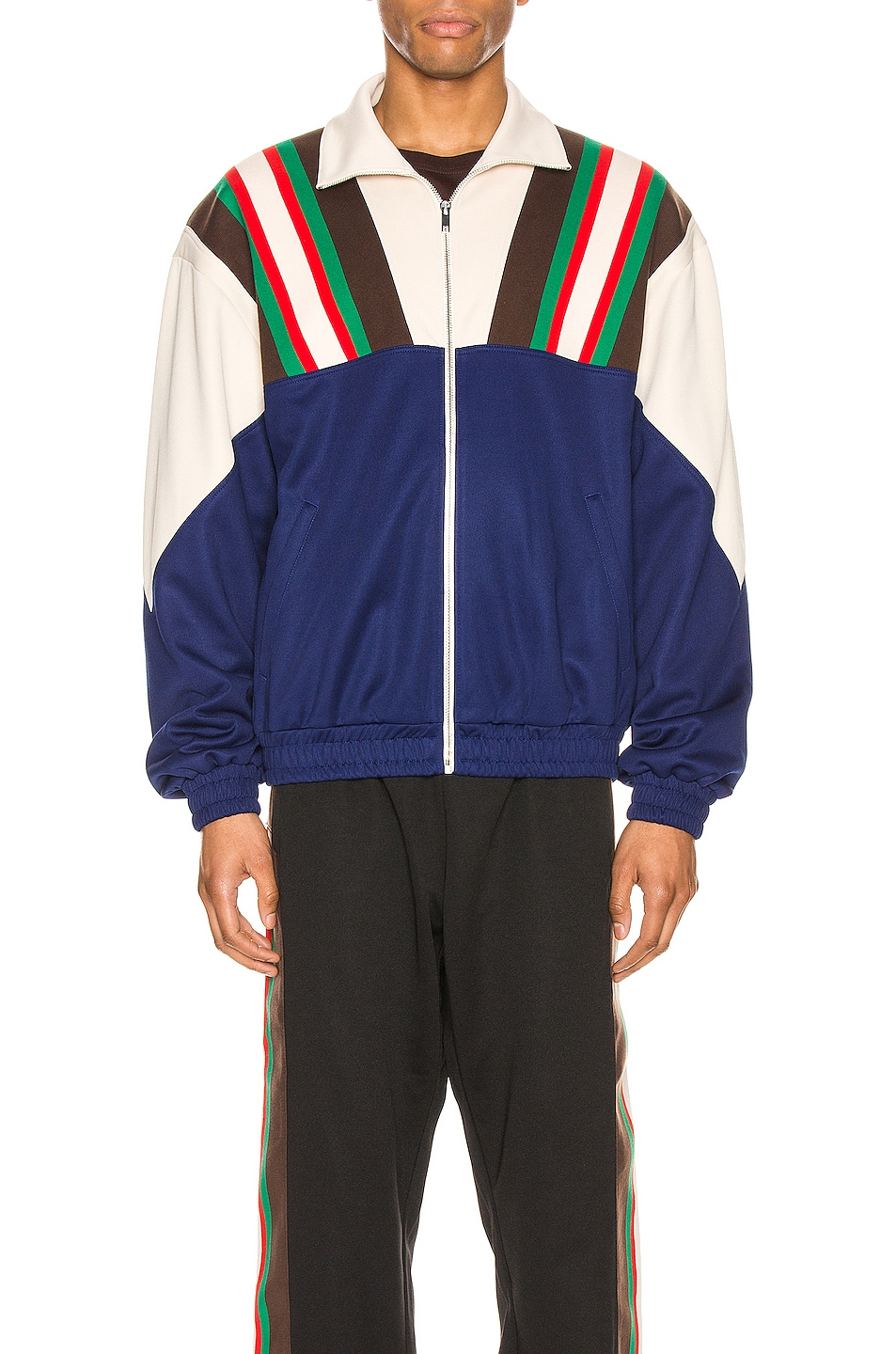 Image 1 of Gucci Bomber Jacket in Inchiostro & Ivory & Mc