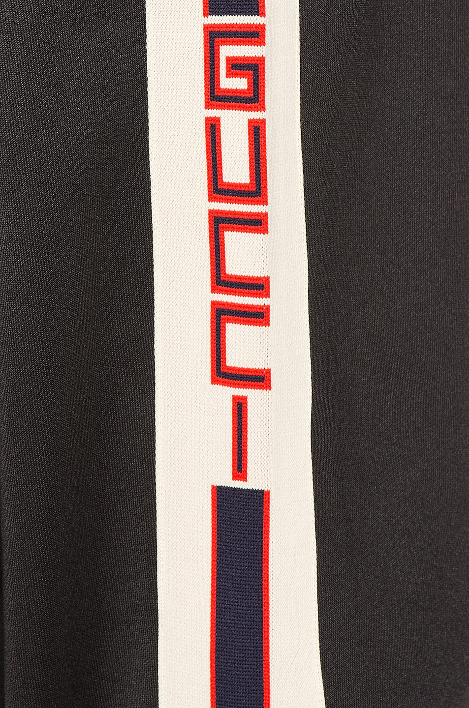Image 6 of Gucci Technical Jersey Pant in Black & Ivory & Live Red