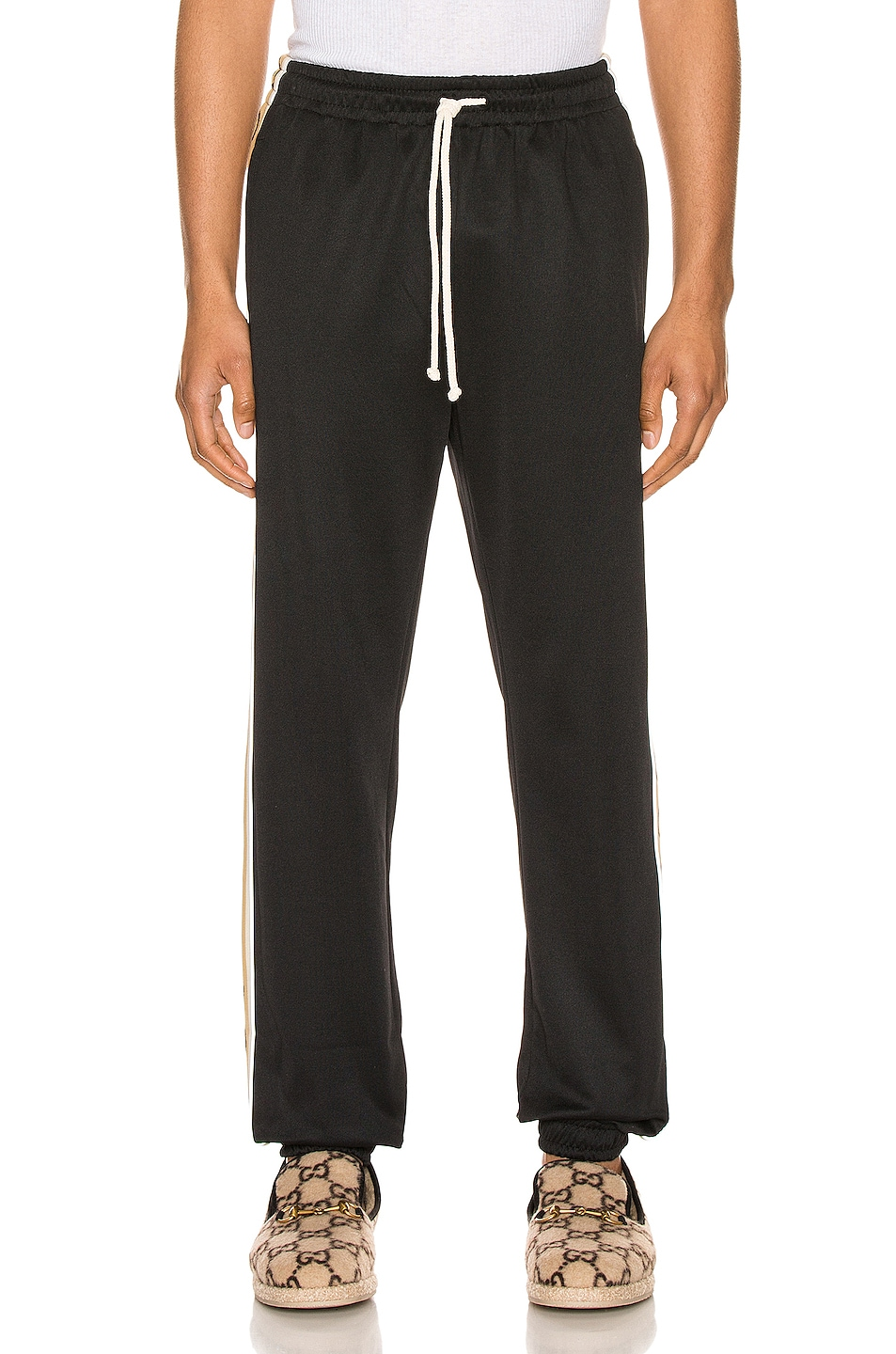 Image 2 of Gucci Loose Technical Jersey Jogging Pant in Black & Multi