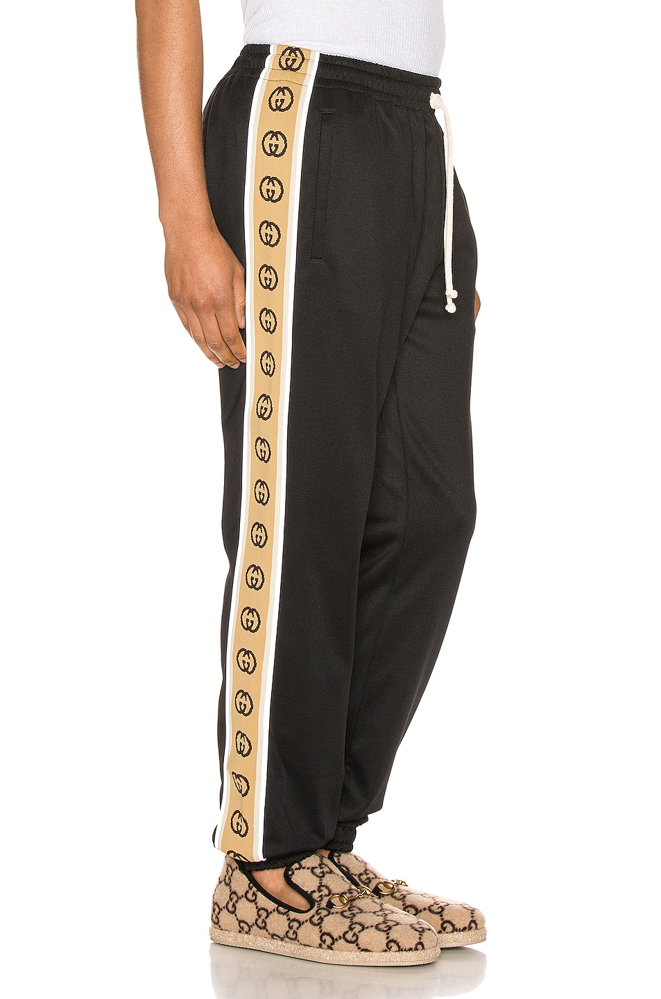 Image 3 of Gucci Loose Technical Jersey Jogging Pant in Black & Multi