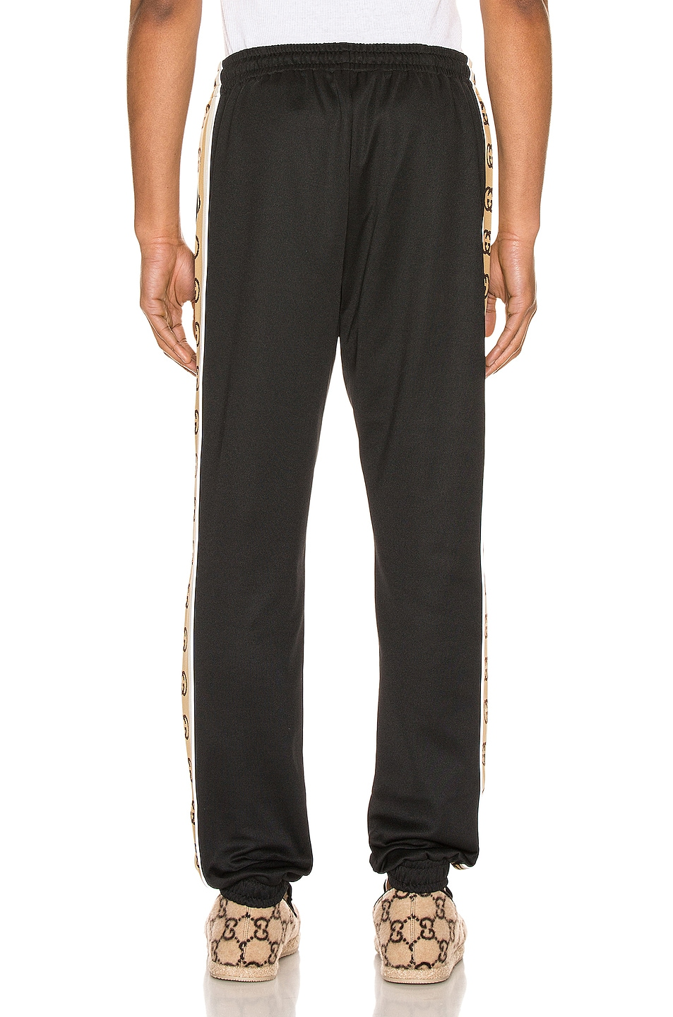 Image 4 of Gucci Loose Technical Jersey Jogging Pant in Black & Multi