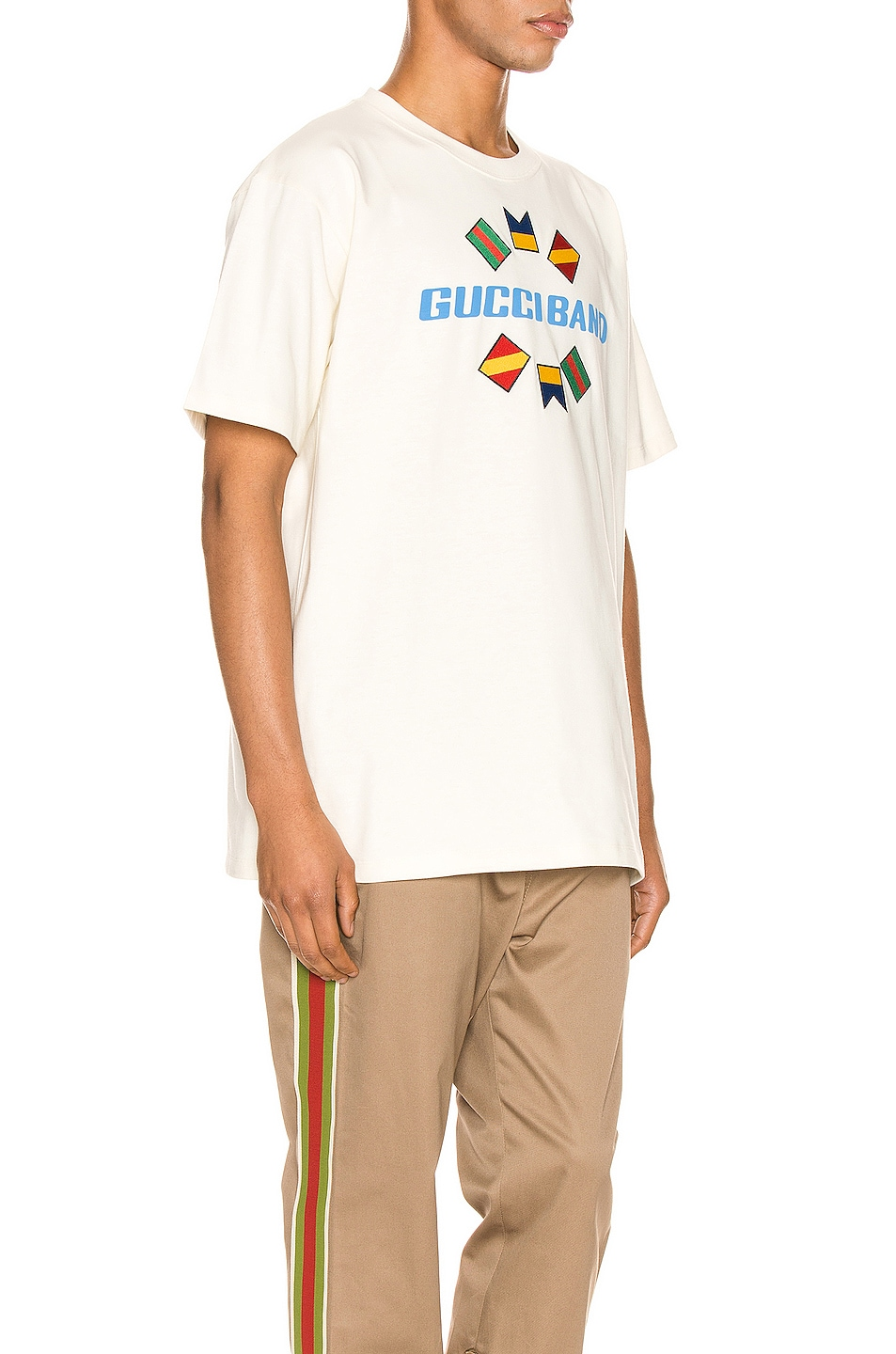Image 2 of Gucci Band Oversize Print Tee in Sunkissed & MC
