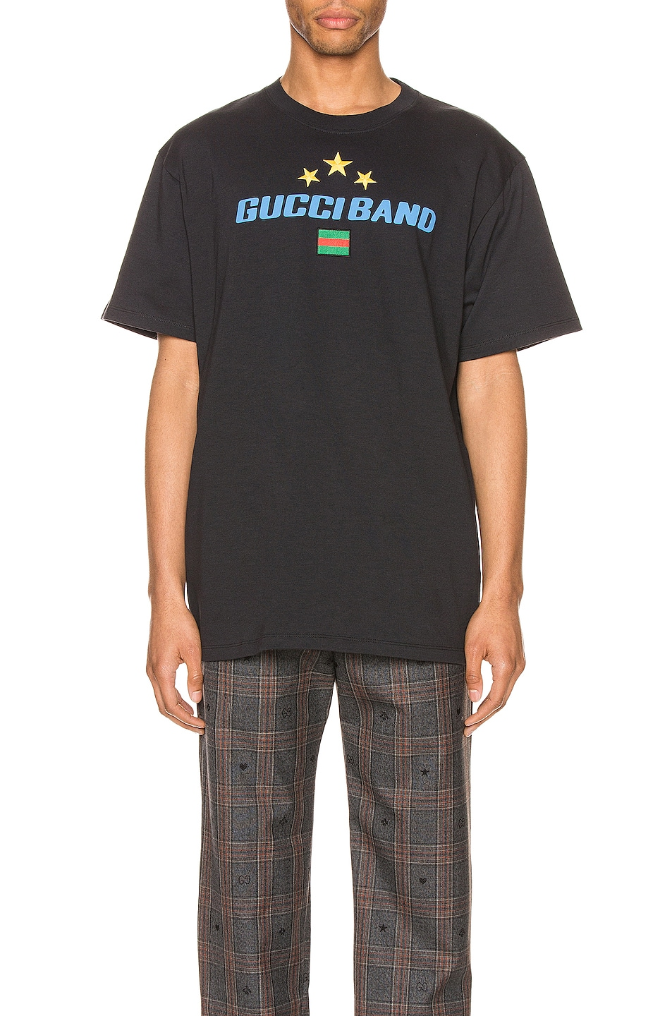 Image 1 of Gucci Band Print Oversize Tee in Medley & MC