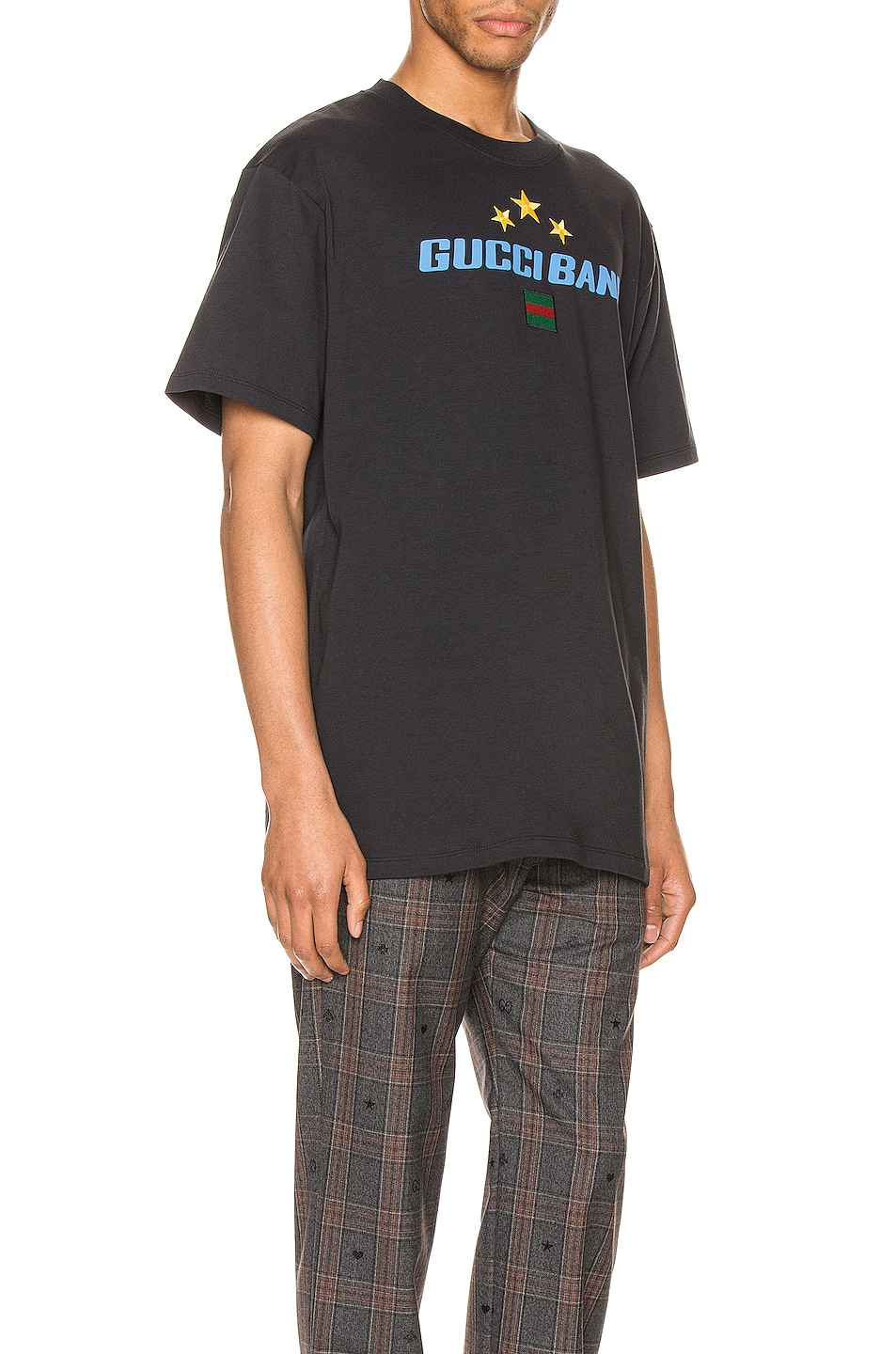 Image 2 of Gucci Band Print Oversize Tee in Medley & MC