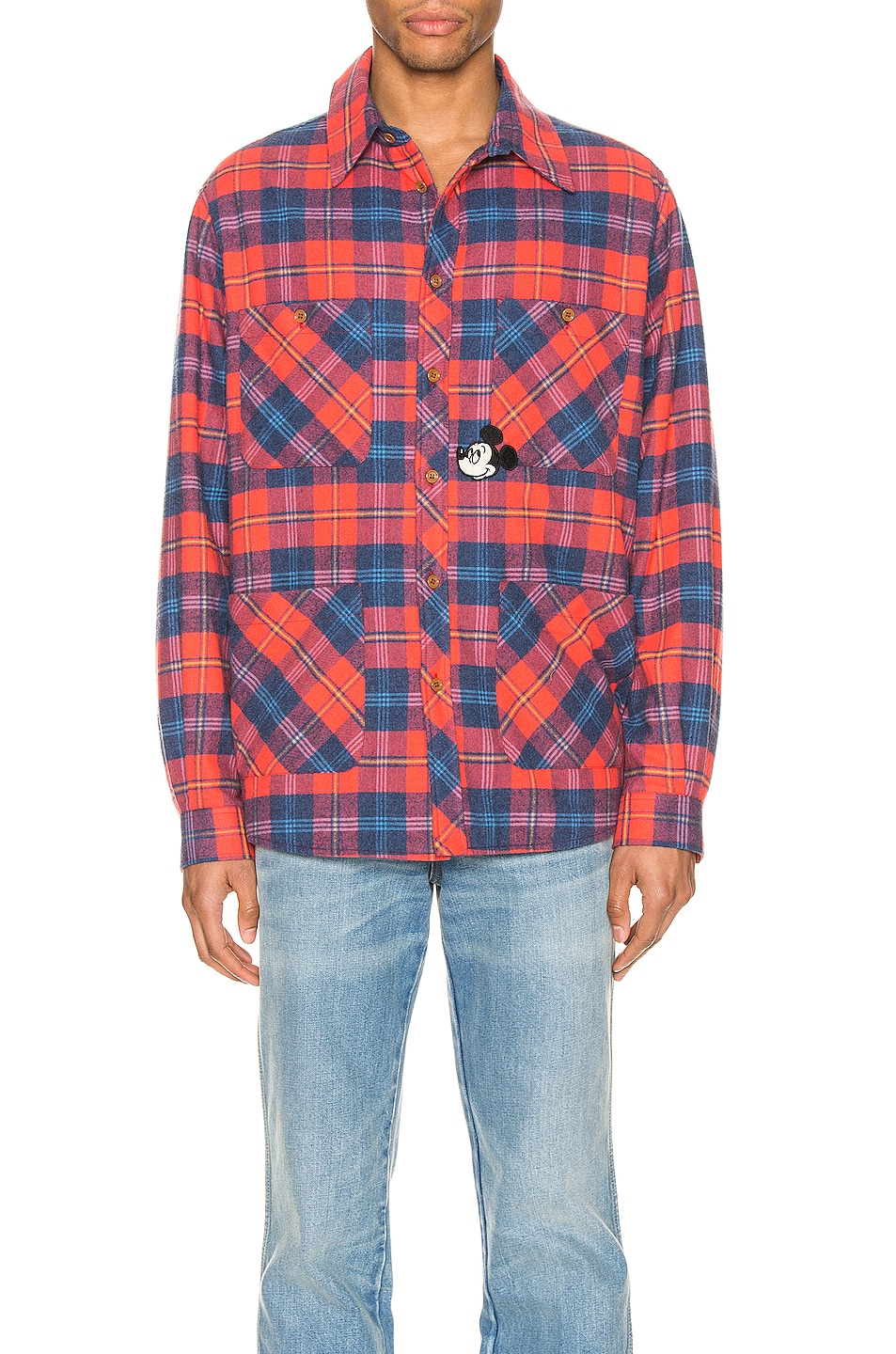 Image 1 of Gucci x Disney Cotton Shirt Shirt in Red & Blue