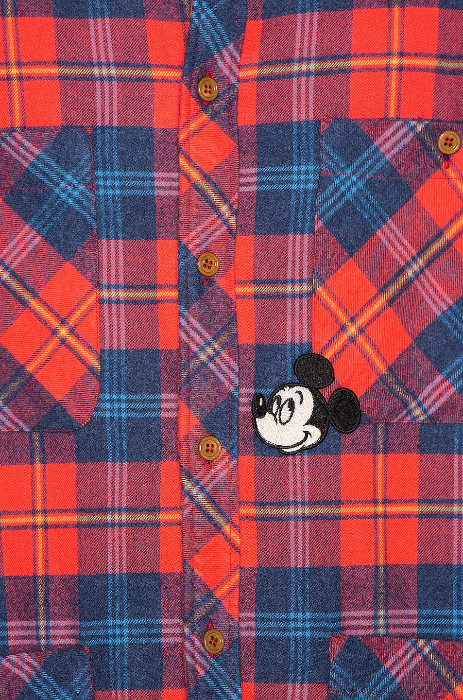 Image 5 of Gucci x Disney Cotton Shirt Shirt in Red & Blue