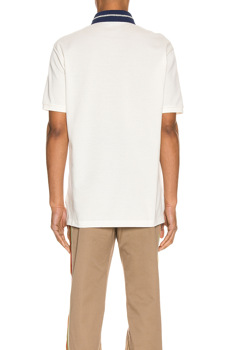 Image 4 of Gucci Cotton Polo With Interlocking G Torchon in Off-White & MC