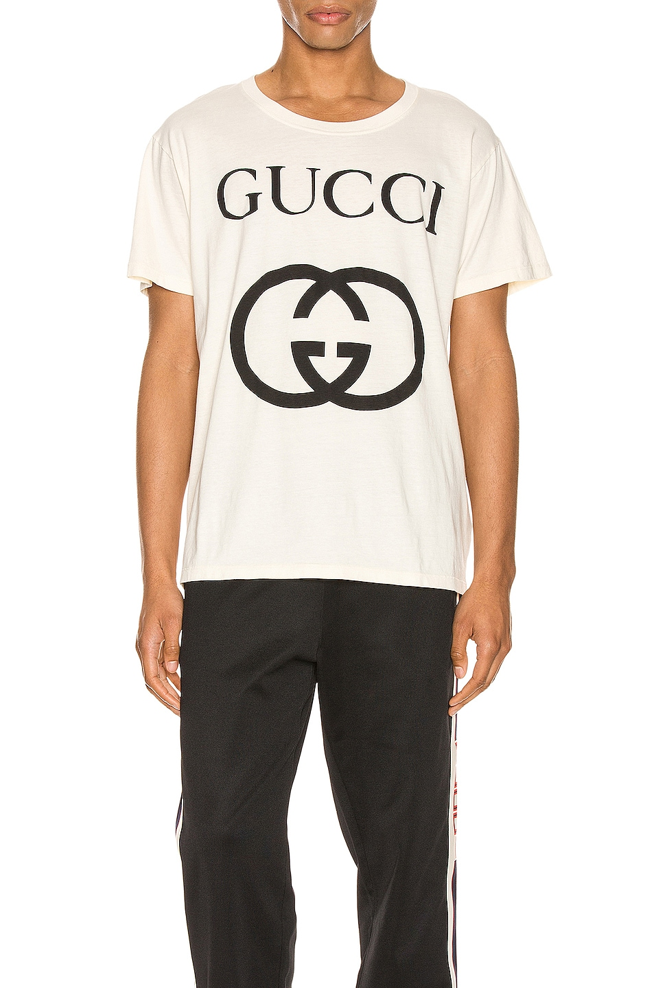 Image 1 of Gucci Oversize Interlocking G Tee in Sunkiss & Black