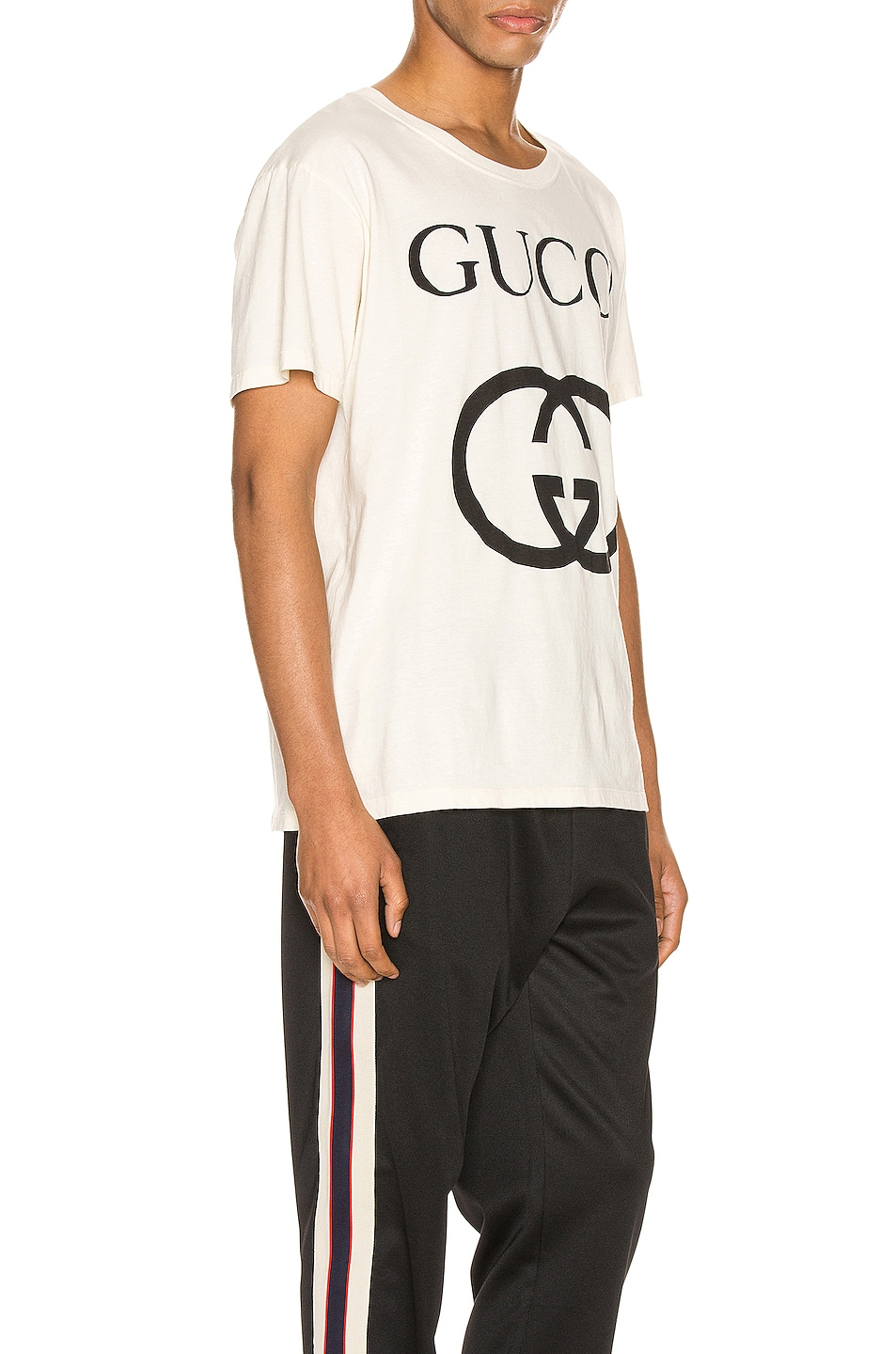 Image 2 of Gucci Oversize Interlocking G Tee in Sunkiss & Black