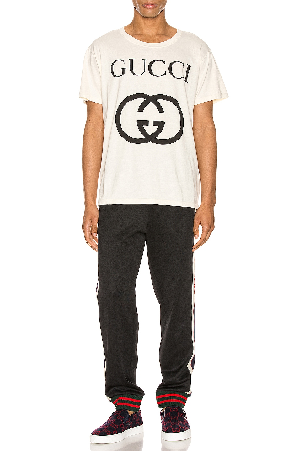 Image 4 of Gucci Oversize Interlocking G Tee in Sunkiss & Black