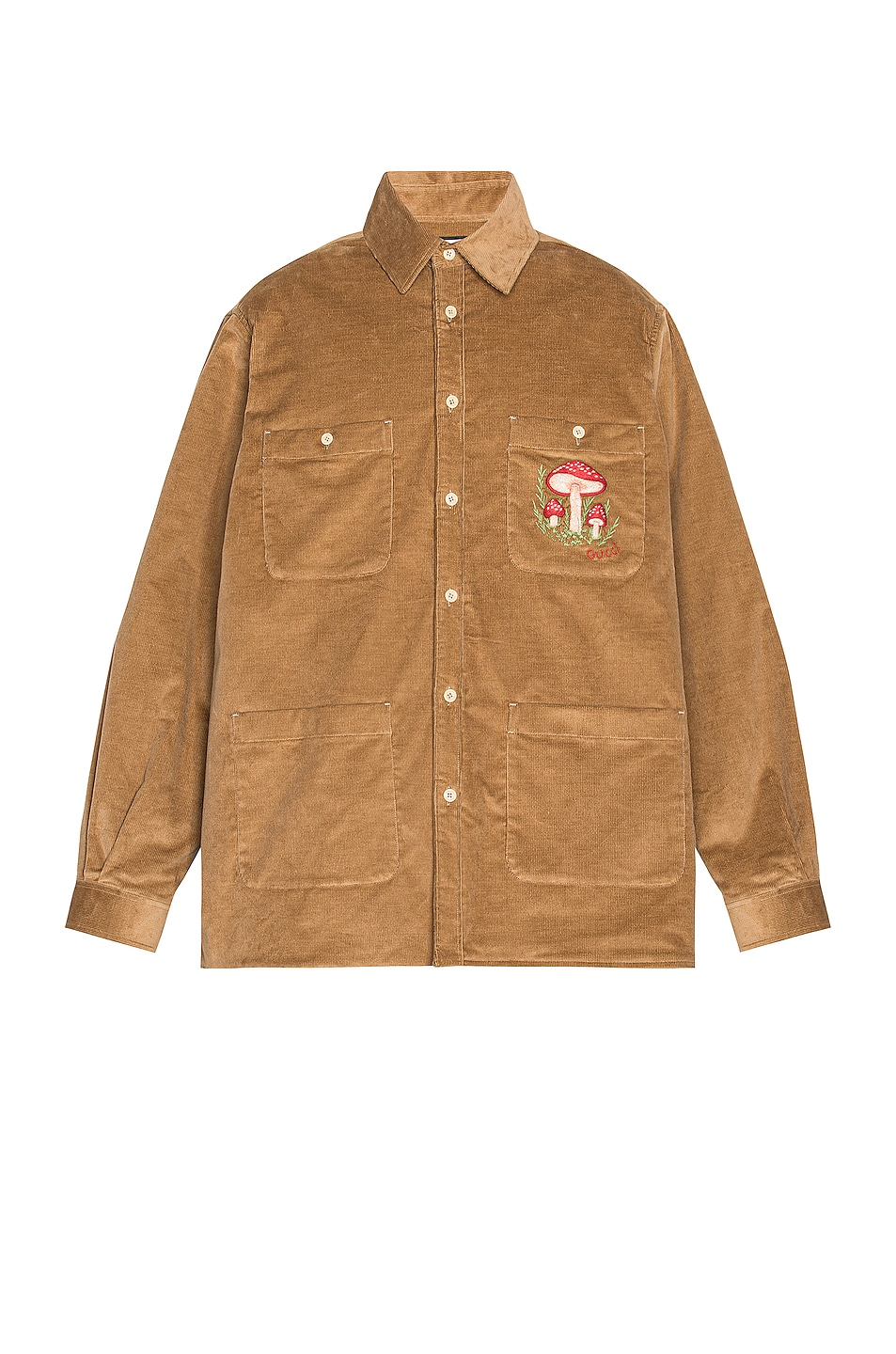 Image 1 of Gucci Long Sleeve Button Down in Saturn & Mix