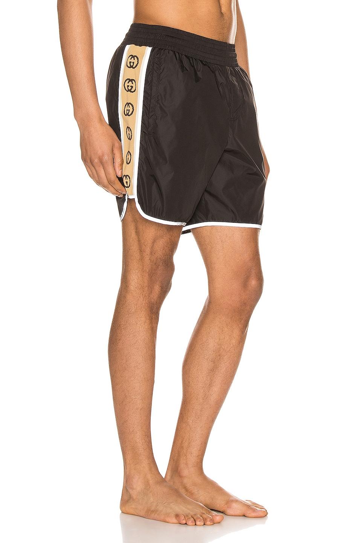 Image 3 of Gucci Nylon Swim Shorts With Ribbon in Black & Multi