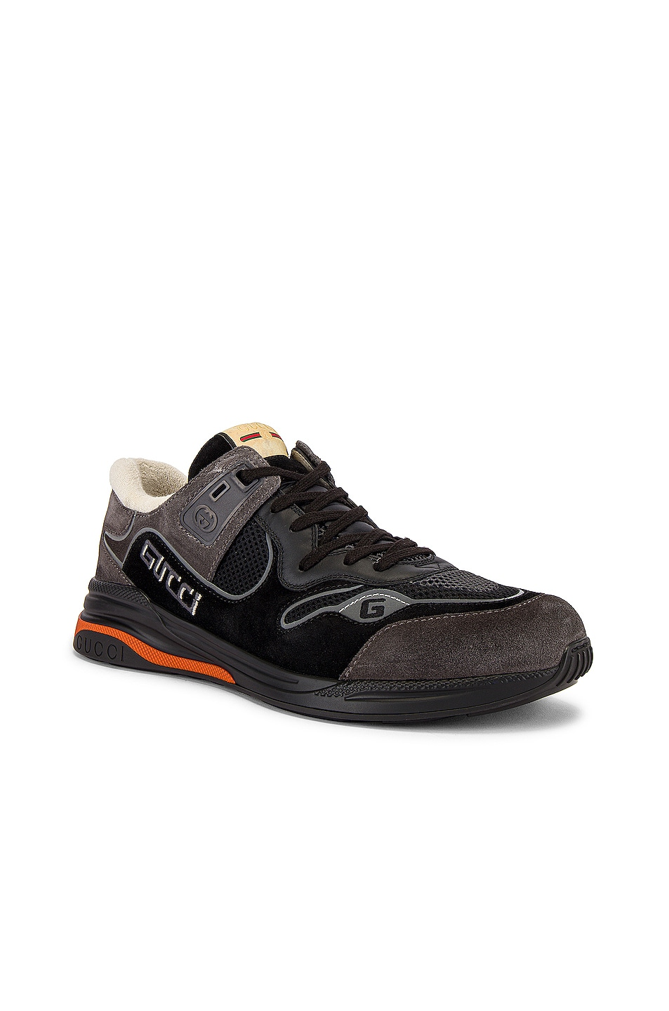 Image 1 of Gucci G Line Low Top Sneaker in Black & Silver