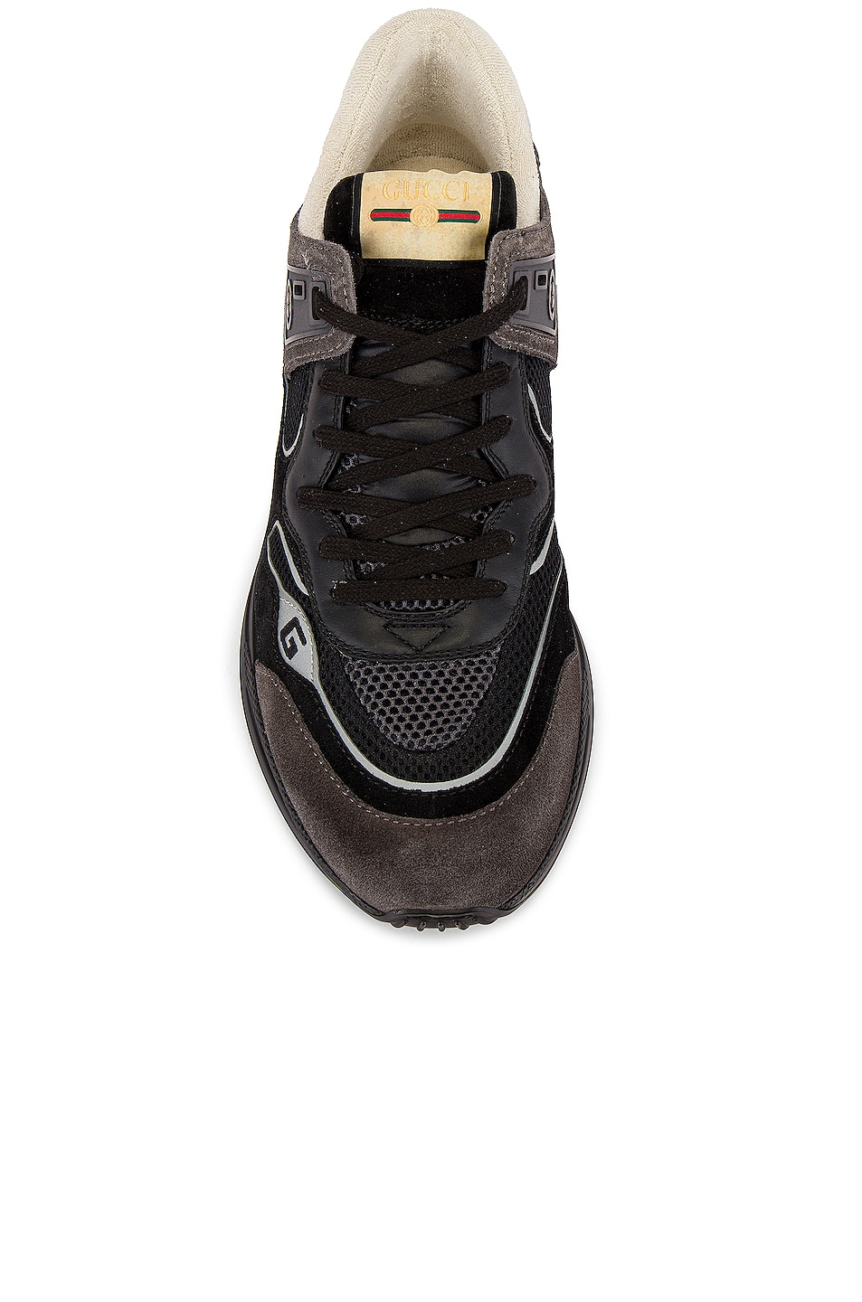 Image 4 of Gucci G Line Low Top Sneaker in Black & Silver