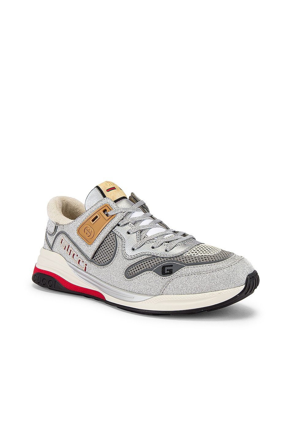 Image 1 of Gucci G Line Low Top Sneaker in Silver & White