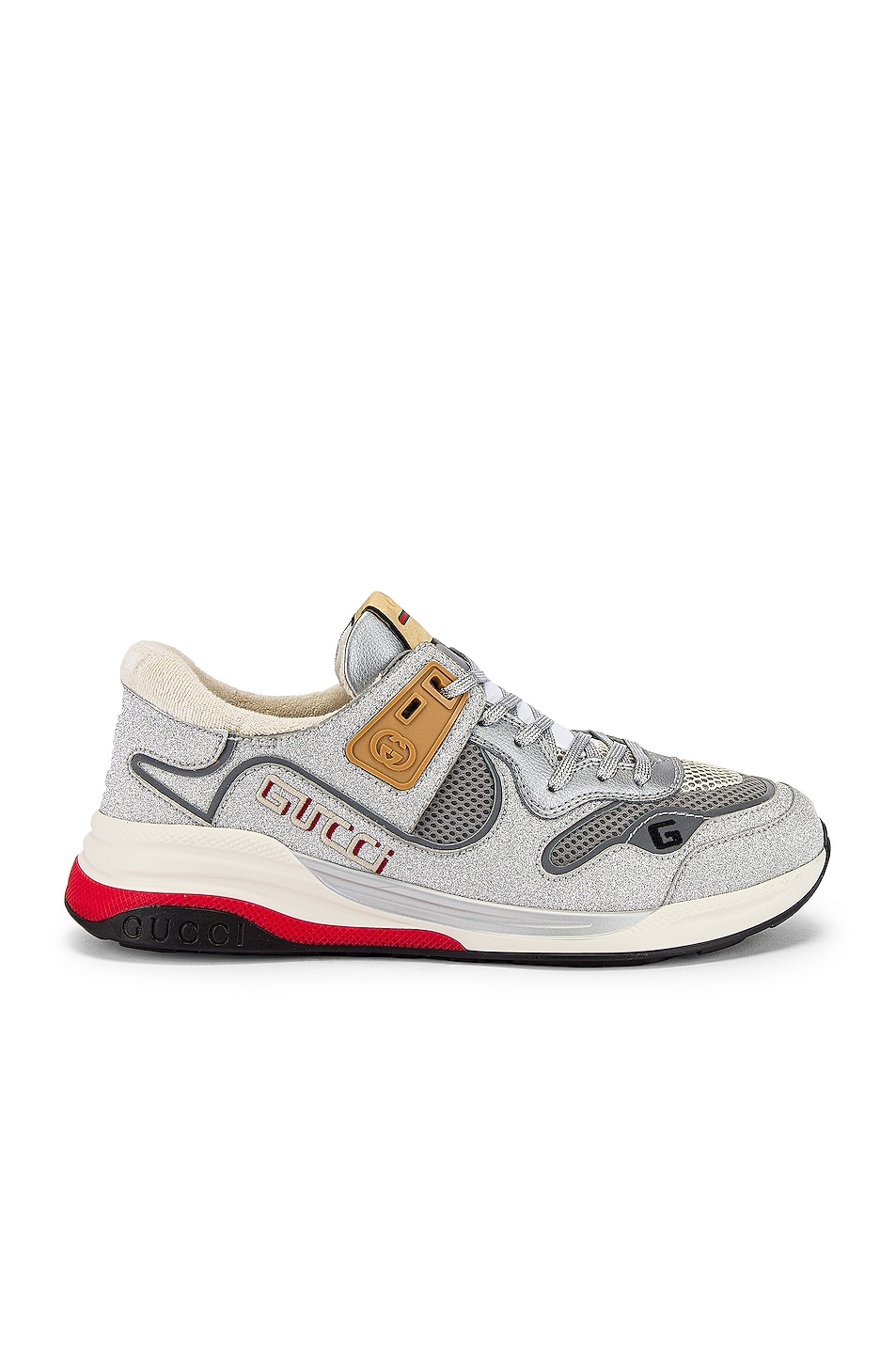 Image 2 of Gucci G Line Low Top Sneaker in Silver & White