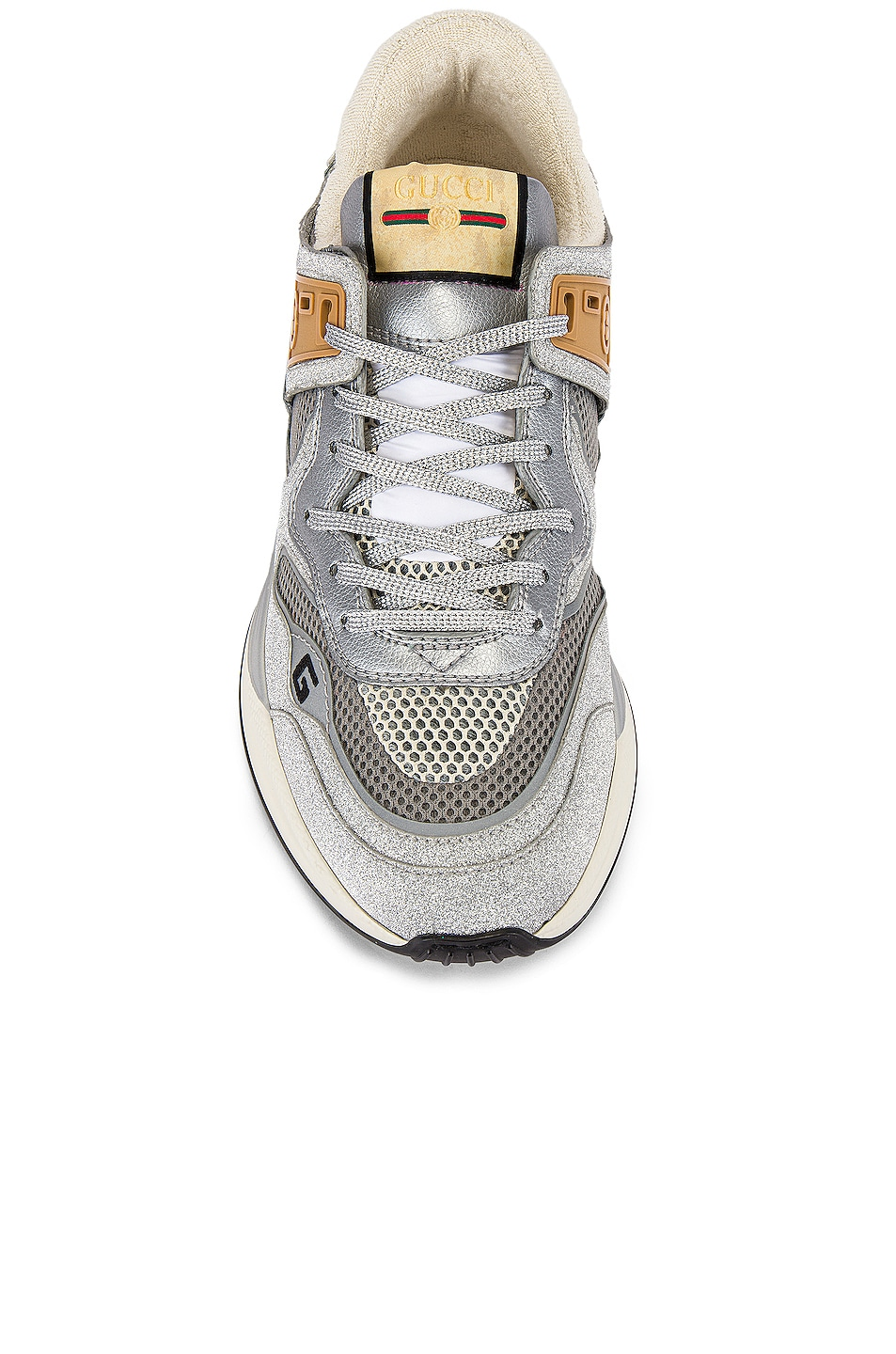 Image 4 of Gucci G Line Low Top Sneaker in Silver & White