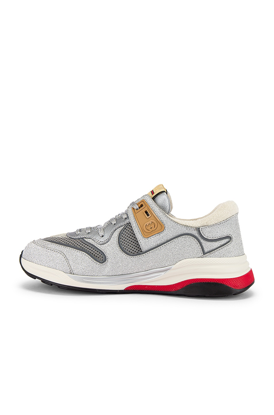 Image 5 of Gucci G Line Low Top Sneaker in Silver & White
