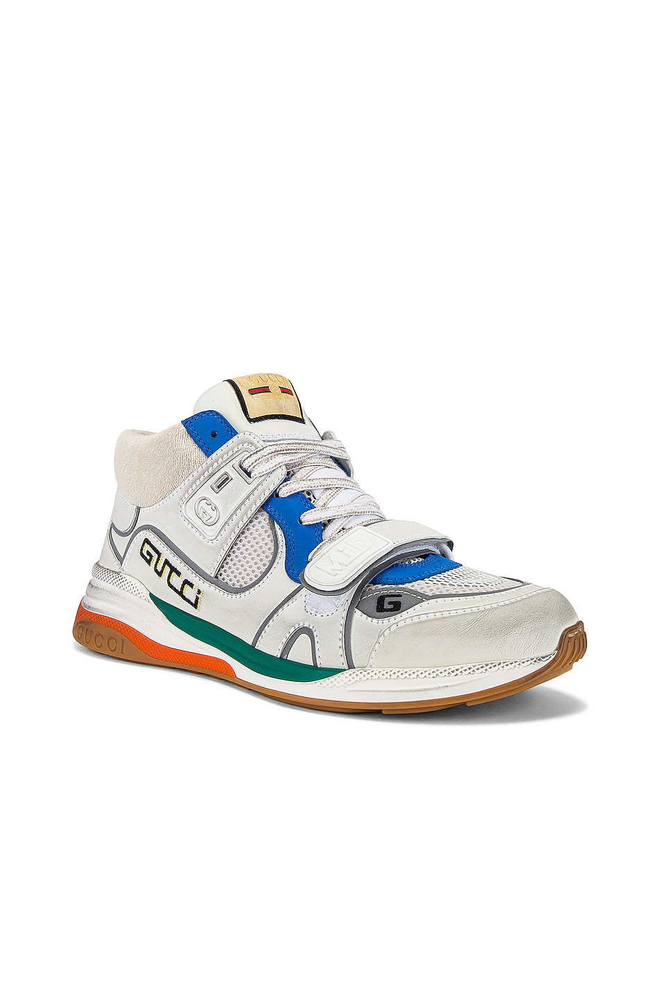 Image 1 of Gucci G Line Mid Low Top Sneaker in Blue & Silver & White