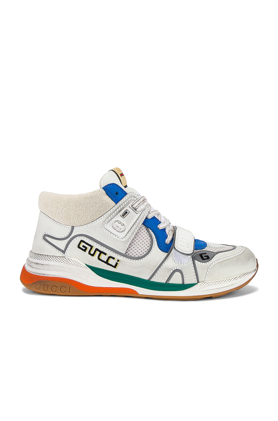 Image 2 of Gucci G Line Mid Low Top Sneaker in Blue & Silver & White
