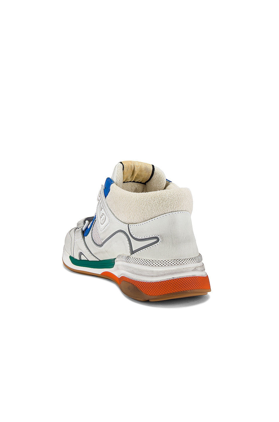 Image 3 of Gucci G Line Mid Low Top Sneaker in Blue & Silver & White