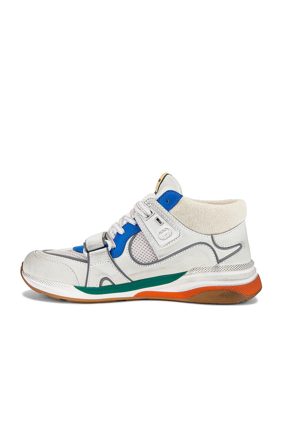 Image 5 of Gucci G Line Mid Low Top Sneaker in Blue & Silver & White