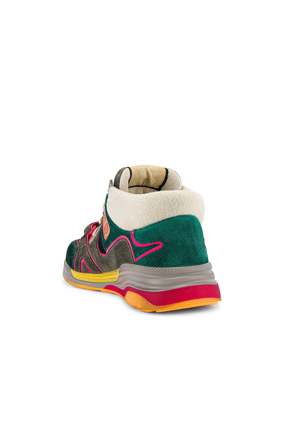 Image 3 of Gucci G Line Mid Low Top Sneaker in Grey & Green