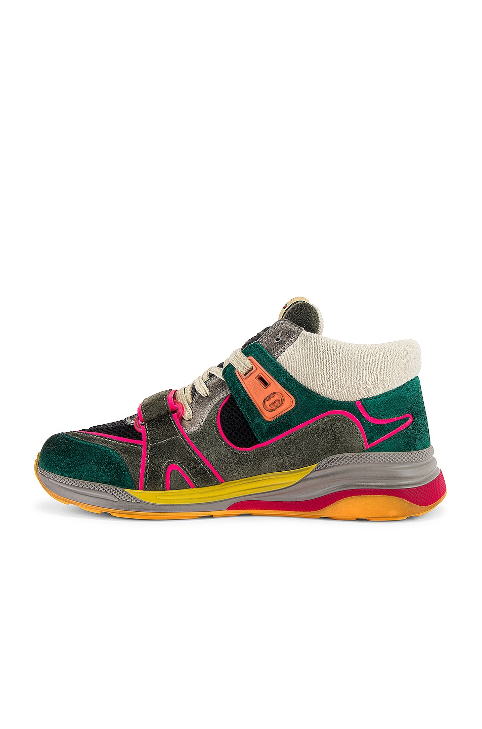 Image 5 of Gucci G Line Mid Low Top Sneaker in Grey & Green