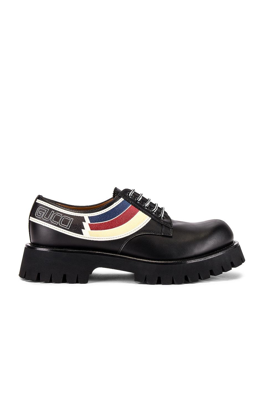 Image 2 of Gucci Oliver Shoe in Black & Ivoire