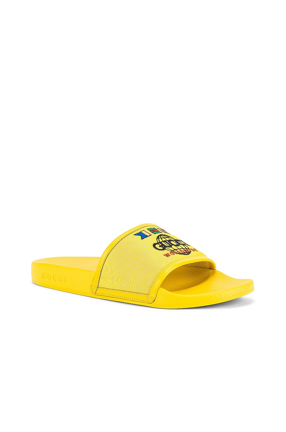 Image 1 of Gucci Pursuit Slide in Smile Yellow & Yellow