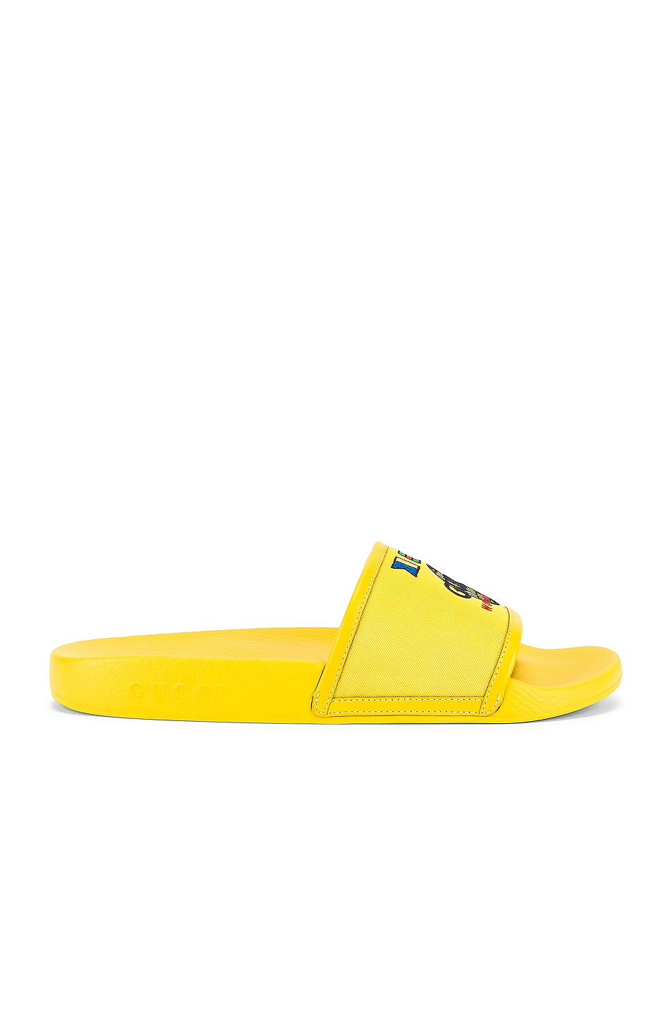 Image 2 of Gucci Pursuit Slide in Smile Yellow & Yellow
