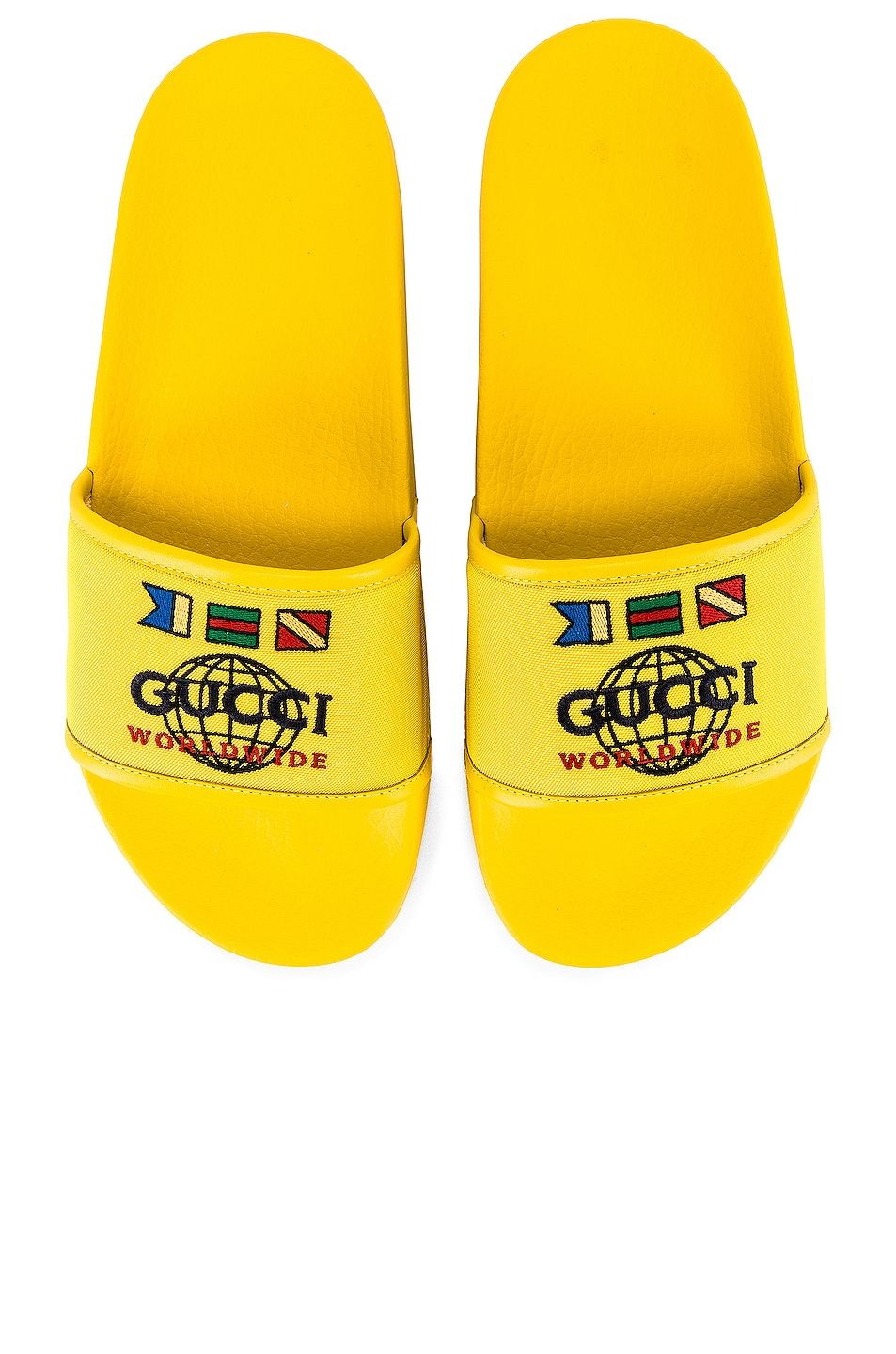 Image 4 of Gucci Pursuit Slide in Smile Yellow & Yellow