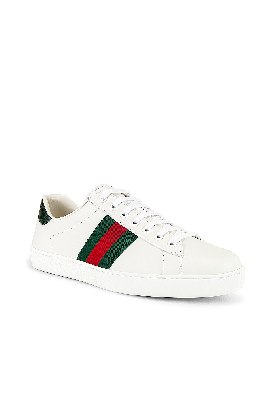 Image 1 of Gucci New Ace Sneaker in White & Red & Green