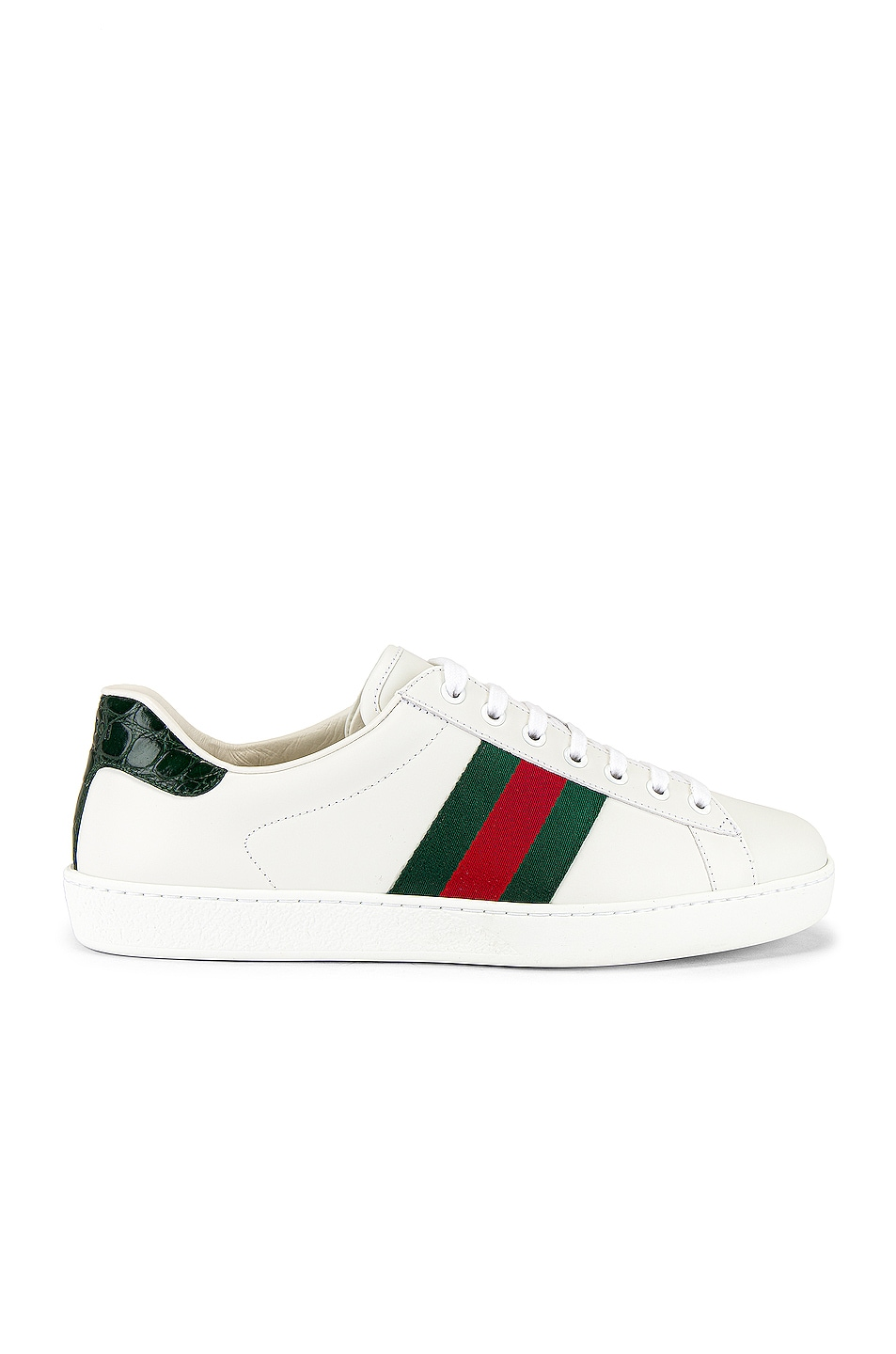 Image 2 of Gucci New Ace Sneaker in White & Red & Green