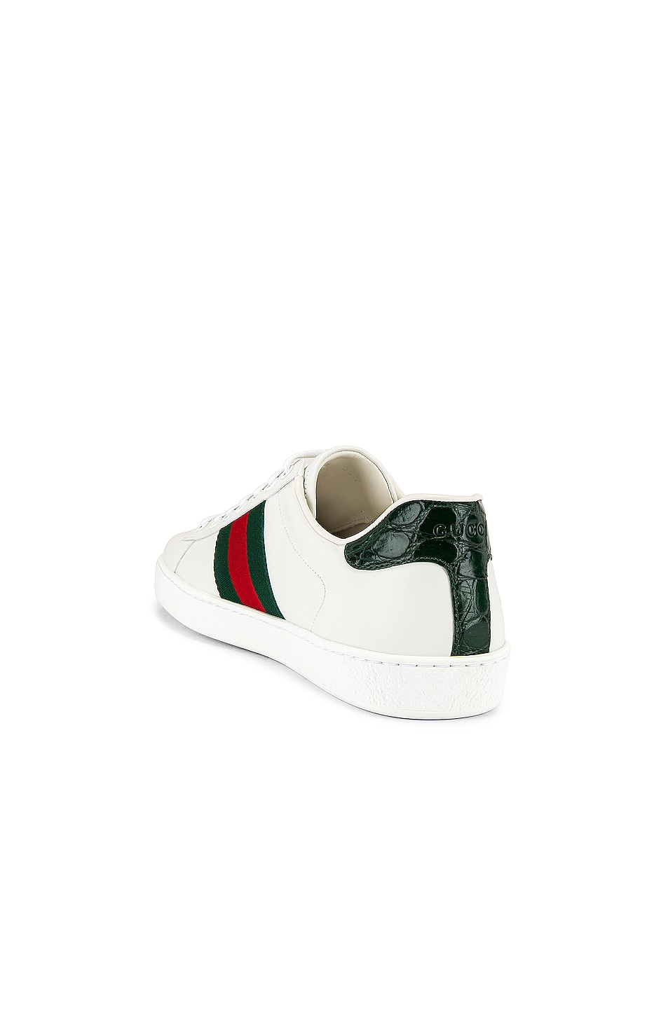 Image 3 of Gucci New Ace Sneaker in White & Red & Green